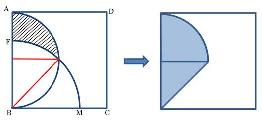 補助線を引いたりして分かる図形に分解