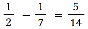 1:2-1:7=5:14
