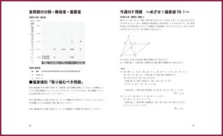 書籍の中身の一部を紹介。算数B 各問題の分類・難易度・重要度